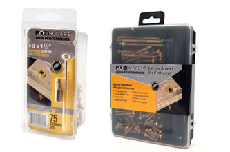 Pozisquare High Performance Screws Interior Wood Screw